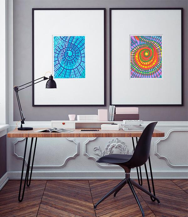Obra Fibonacci colección arte digital