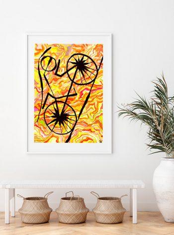 Lámina artística de una bicicleta
