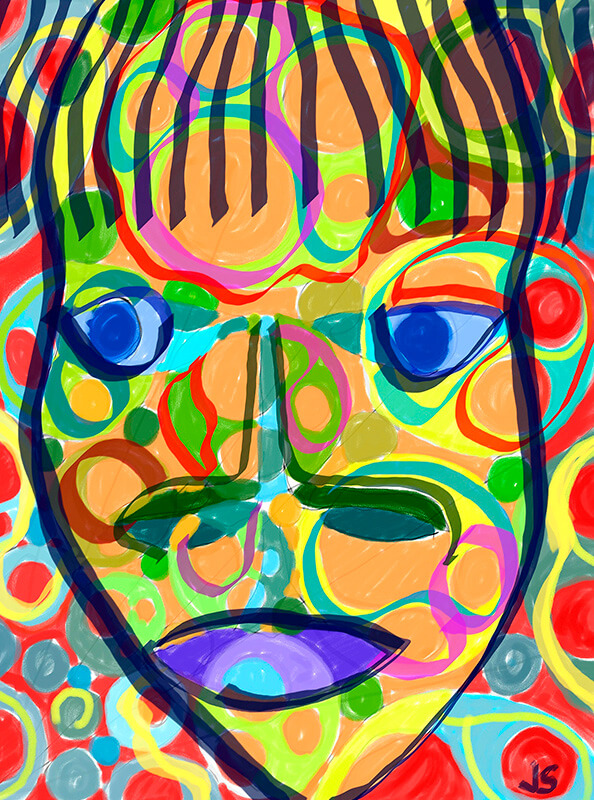 Cuadro de arte abstracto de Suances Obradoiro