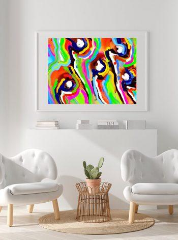 Obra con trazos de colores de Javier Suances