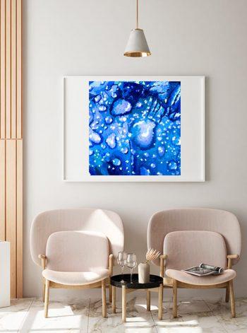 Obra digital para decorar una sala de espera