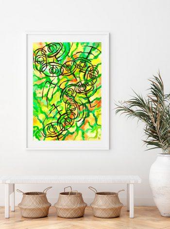 Lámina artística que sirve de decoración de un espacio
