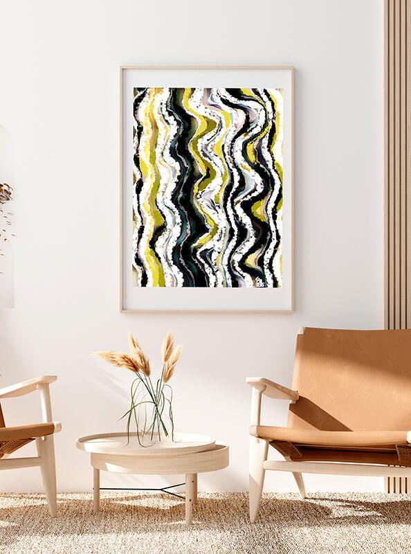 Cuadro abstracto del arquitecto Javier Suances