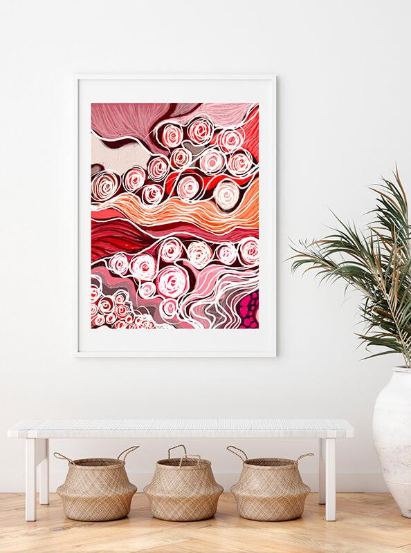 Obra digital para decorar una oficina o negocio